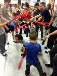 Fencing sword fight Athlete Hour THON 2015